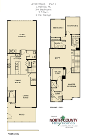 Floor Plans For 2 Story Homes by Level 15 Floor Plans New Townhomes In Escondido North County