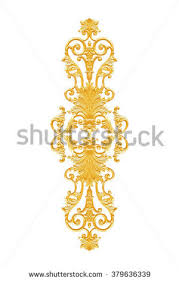 ornament elements vintage gold floral designs stock photo