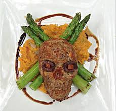 healthy halloween recipe skull meatloaf h3 daily