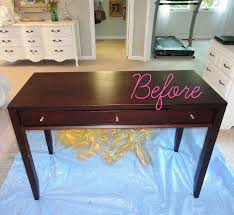 Diy Makeup Vanity Desk Livelovediy Diy Thrift Store Desk Makeover Using Silver Leaf