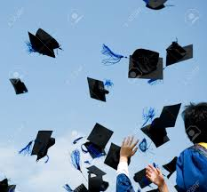 high school graduation caps high school graduation hats high stock photo picture and royalty