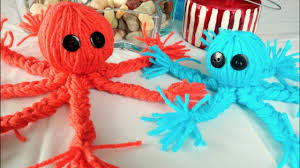 crafts for kids how to make a yarn octopus youtube