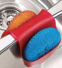 Sink Sponge Holder Red In Sink Organizers - Kitchen sink sponge holder
