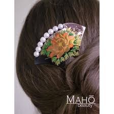 traditional hair accessories japanese hair accessory fan kanzashi hair comb peony flower