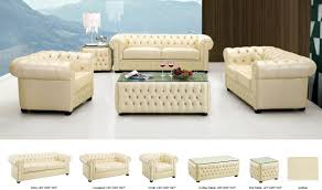 leather living room furniture sets 258 leather living room set in ivory free shipping get furniture