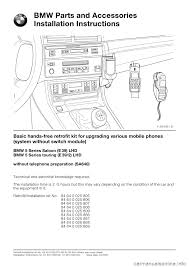 bmw 5 series 2001 e39 basic handsfree retrokit for updating