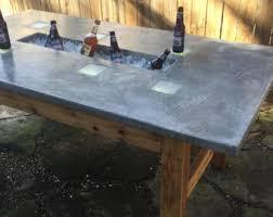 concrete top bar table outdoor pub table w concrete top