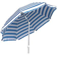 fresh blue and white striped patio umbrella 25448