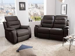 ensemble canapé ensemble canapé 2 relax manuel 2 places fauteuil relax