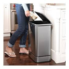 poubelle cuisine automatique poubelle automatique rangement cuisine déco et saveurs