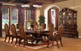 Formal Dining Room Sets The Espresso High Gloss Dark Brown Long Wooden Table Formal Dining