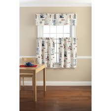 Discount Waverly Curtains Traditions By Waverly Stripe Ensemble Kitchen Curtain And Valence