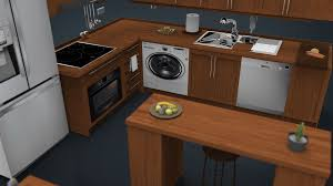 furniture kitchen set fruits 3d kitchen set cgtrader