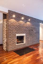 country homes interior country home brick wall in modern house interior stock photo
