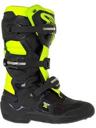 mx boots tech s alpinestars kids motocross boots black red fluorescent tech