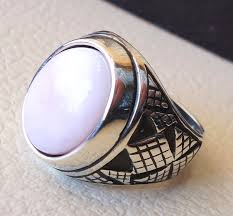 opal stone rings images Pink opal natural stone men ring sterling silver 925 stunning JPG