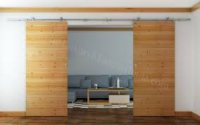 Double Barn Doors by Munich Double Sliding Barn Door Hardware 100