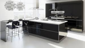 idee cuisine ilot cuisines cuisine îlot central idée originale noir blanc bar