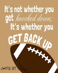 Printable Sports Quotes | motivating football quote printable signs sports decor football