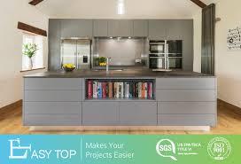 kitchen top cabinet hs code china simple design matte grey melamine kitchen cabinet