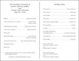 wedding ceremony programs exles wedding programs exles on wedding programs sle front wedding