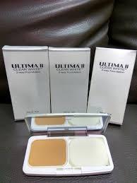 Bedak Ultima Ii Clear White jual ultima ii clear white 2 way foundation dan casing kaca