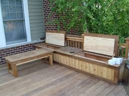Patio Bench With Storage by Deck Storage Bench Plans Top Features Deck Storage Bench U2013 Home