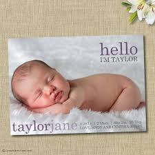 baby birth announcement custom photo card hello