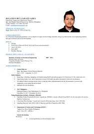 Resume Sample Doc Philippines by Petroleum Engineer Jonathan Rey Sarra Resume