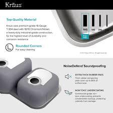 Stainless Steel Kitchen Sinks KrausUSAcom - Steel queen kitchen sinks