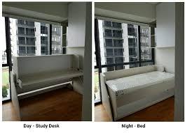 Hidden Desk Bed by Leda System