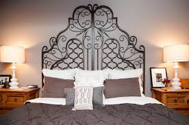 Rod Iron Headboard Wrought Iron Headboards Charm With Their Attraction