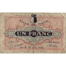chambre 57 metz 57 metz chambre de commerce 1 franc 1918 tres beau