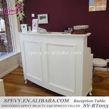 Salon Reception Desk White White L Shape Moulded Panel Salon Reception Desk Buy