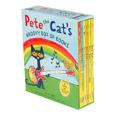 pete the cat groovy box of books six hardcover volumes with poster