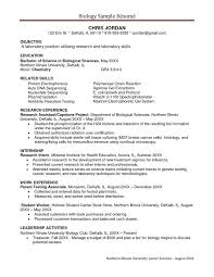 objective resume examples sample undergraduate research