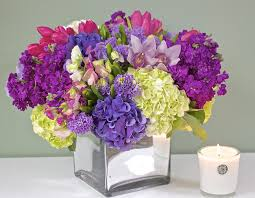 purple hydrangea purple hydrangea and tulip mix in redondo ca s flowers