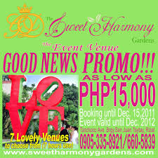 cheap wedding packages philippine wedding trends sweet php15 000 00 harmony garden s promo