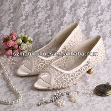 Wedding Shoes Small Heel 14 Colors Brown Bridal Low Heel Lace Wedding Shoes Buy Low Heel