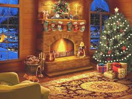 fireplace awesome christmas fireplace scene design decor top
