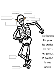 le corps body parts in french labelling activity and flashcard