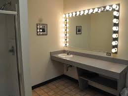 sit down vanity with lighted mirror doherty house three