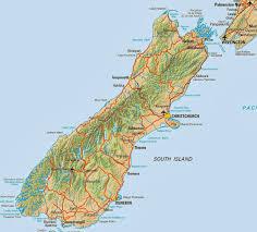 Tonga Map Geography Blog Map Of New Zealand South Island