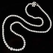 platinum necklace with diamonds images Estate platinum diamond riviera necklace 13 75ctw a brandt son jpg