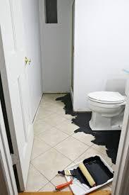painting a floor diy painted stencil bathroom floor the home depot blog