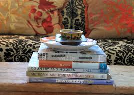 book stacking ideas stack of books end table