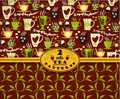 font design series vector free vector tea background vector seamless pattern