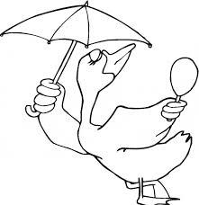 umbrella bird coloring animals town animals color sheet