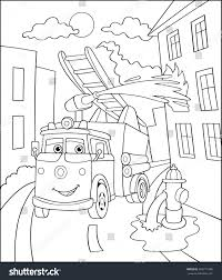 coloring book cartoon vector illustration black stock vector