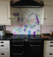 made to measure kitchen splashback ideas and glass art panels